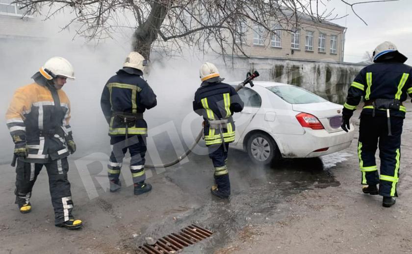 В Павлограде горела «Geely Emgrand»