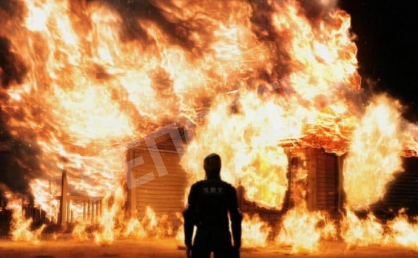 Под Павлоградом загорелся жилой дом