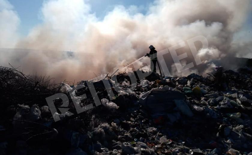 На полигоне под Павлоградом произошел масштабный пожар